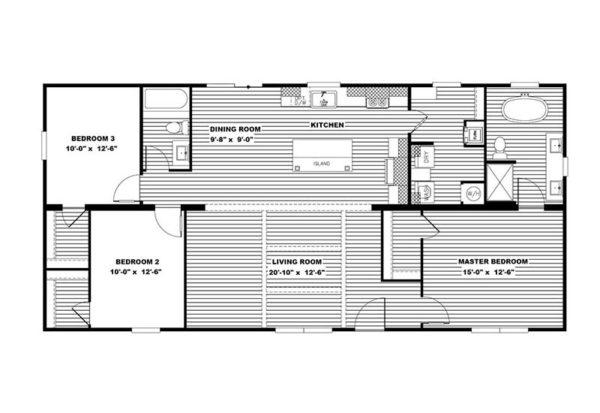 AIMEE - Mobile Home - Floor Plan