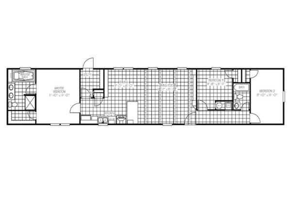 Patton - Mobile Home - Floor Plan