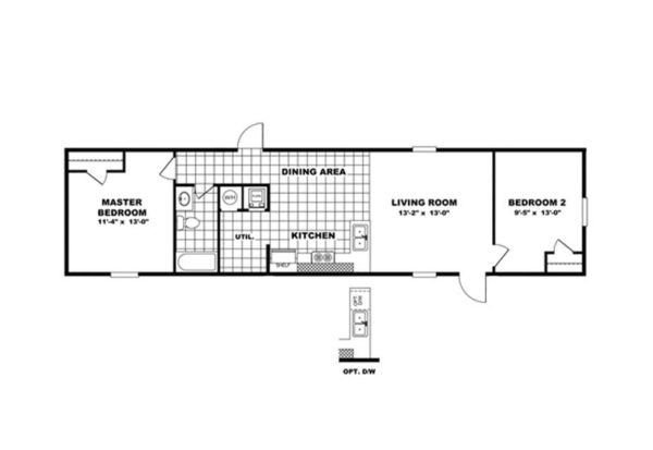 TruMH Bliss - Mobile Home - Floor Plan