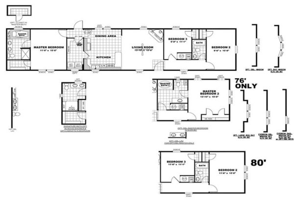 Hidden Pantry - Mobile Home - Floor Plan