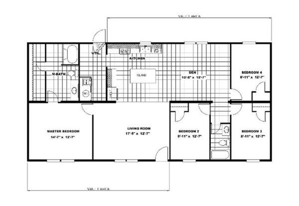 TruMH Marvel - Mobile Home - Floor Plan