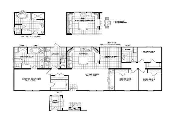 Newport - Mobile Home - Floor Plan