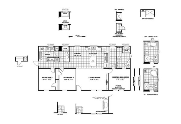 PT78 - Mobile Home - Floor Plan