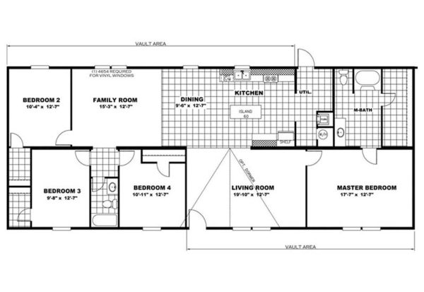 TruMH Pride- Mobile Home - Floor Plan