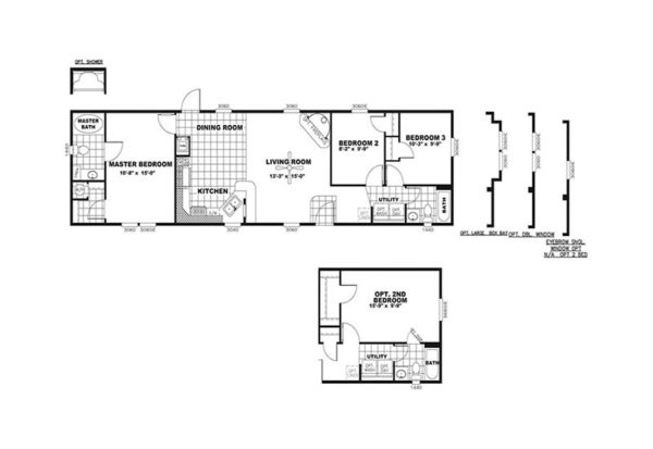 Smart Buy - Mobile Home - Floor Plan