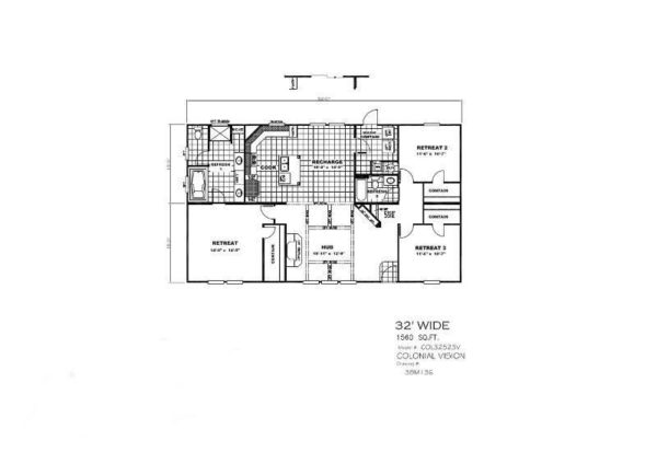 Highland Park - Mobile Home - Floor Plan