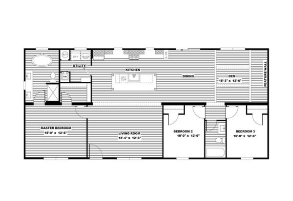 Clayton Isabella - Mobile Home - Floor Plan