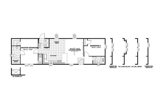 MAX - Mobile Home - Floor Plan