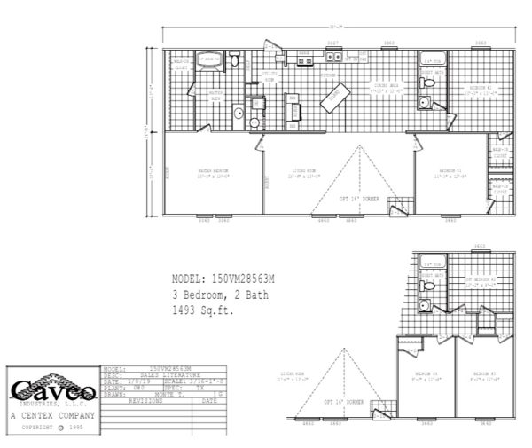 Cavco mobile home floor plan